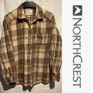 Northcrest Women's Plus Size 2X Flannel Shirt Top